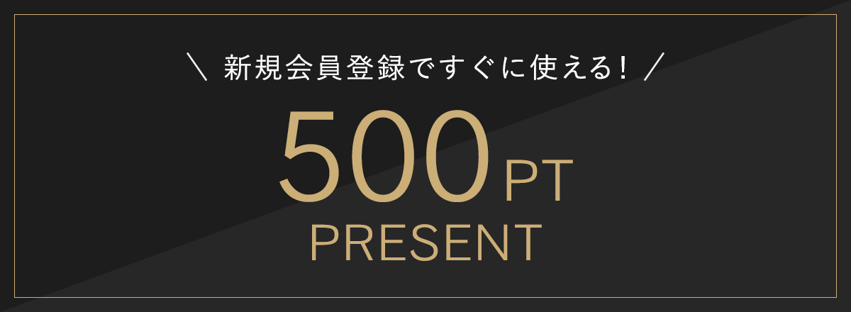 新規会員登録ですぐに使える500ポイントプレゼント